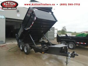 ULTIMATE HIGH SIDED DUMP TRAILER 6 X 12 BOX -5 TON QUALITY STEEL
