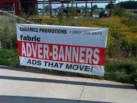 Mobile adver flags , signs/ banners