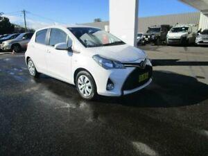 2015 Toyota Yaris NCP131R MY15 SX Glacier White 4 Speed Automatic Hatchback South Hurstville Kogarah Area Preview