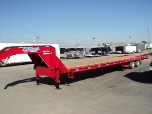 REMORQUE TRANSPORT GOOSENECK - 40' FLAT BED HYDRAULIQUE