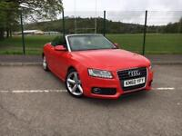 AUDI A5 S-LINE CONVERTIBLE 2010 60 WITH ONLY 38,800 GENUINE MILES FROM NEW!