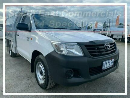 2011 Toyota Hilux TGN16R MY10 Workmate White Manual Cab Chassis Pakenham Cardinia Area Preview