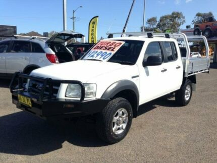 2008 Ford Ranger PJ 07 Upgrade XL (4x4) White 5 Speed Manual Super Cab Pickup Broadmeadow Newcastle Area Preview