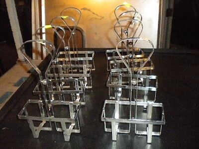 Lot 8 Chrome Table-top Sauce Caddie - Great For Any Bar Restaurant - Must Sell