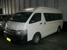 2009 Toyota Hiace TRH223R MY07 Upgrade White 4 Speed Automatic Bus Cardiff Lake Macquarie Area Preview