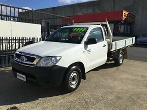2006 Toyota Hilux 06 Upgrade MANUAL 3 SEATS White 5 Speed Manual Utility Underwood Logan Area Preview