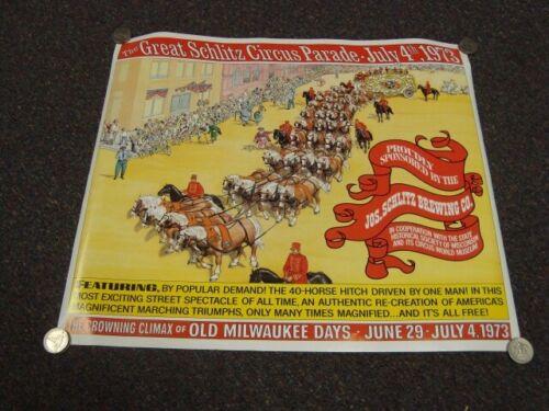 Circa 1973 Great Schlitz Circus Parade Poster, Milwaukee, Wisconsin
