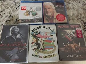 Various Music DVD's and Blu Ray