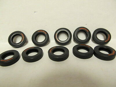 10 DCP 1/64 SCALE TIRES WITH ORANGE GOOD/YEAR  RAISED LETTERS (PETERBILT KW)