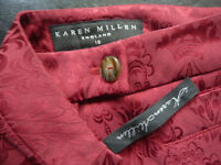 Karen Miller patterned elastic trousers size 10