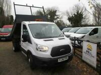 2016 Ford Transit 2.2TDCi 125PS TIPPER 350 L2H1 ULEZ COMPLY 73K NO VAT