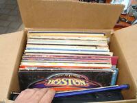 Boîte de vieux 33 tours