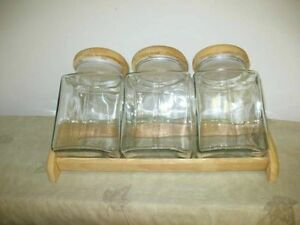Set of glass jars,new