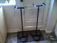 spiked speaker stands,adjustable to over 5ft, £25, 07778055133, thanks.3ft retracted,apprx