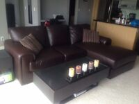 Moving Sale! Leather Sectional Couch, Glass Coffee Tables, More