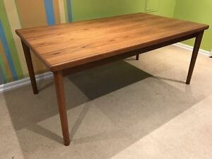 Mid century large teak dining table by AM Mobler