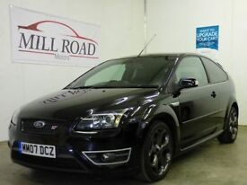 FORD FOCUS 2.5 ST-3 3d 225 BHP FULL SERVICE HISTORY LOW MILE (black) 2007