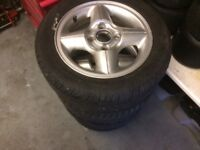 Ford Escort Alloy Wheels, 4 with good tyres