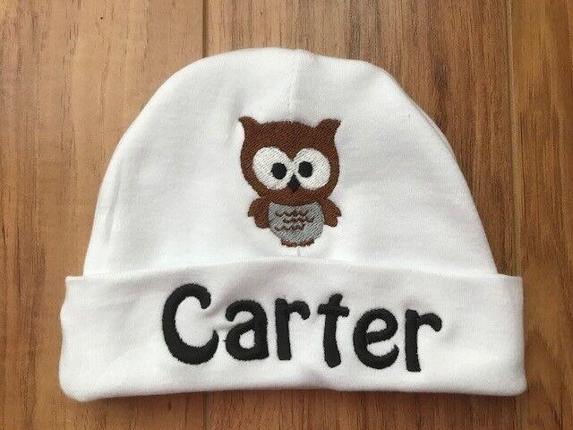1d41e4890458c PERSONALIZED MONOGRAM CUSTOM Baby Boy Girl Beanie Hospital Hat Cap Keepsake  Gift