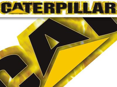 Caterpillar decal sticker - Yellow Fire - windshield window tailgate Peterbilt