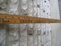 Vintage Advertising Yardstick For Crown Lumber Co.