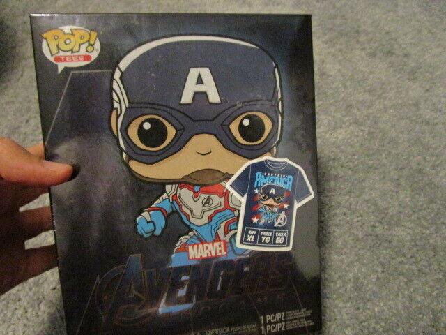 Funko Pop Tees! Captain America FYE EXCLUSIVE Avengers Endga