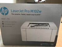 NEW hp laserjet pro m102w, mono laser printer