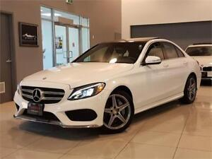 2015 Mercedes-Benz C-Class C300 4MATIC-AMG-NAVI-PANO ROOF-ONLY 4