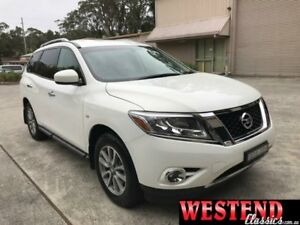 2014 Nissan Pathfinder R52 ST White Constant Variable Wagon Lisarow Gosford Area Preview