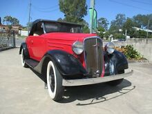 1934 Chevrolet Six Sport Chevrolet Red 3 Speed Manual Roadster Birkdale Redland Area Preview