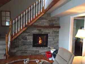 Gas or Wood fireplace transition Furnaces Ducting