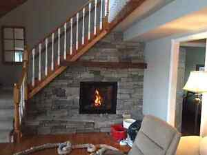 Ģas or Wood fireplace transition