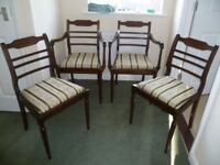 Dining chairs x 4 excellent condition.