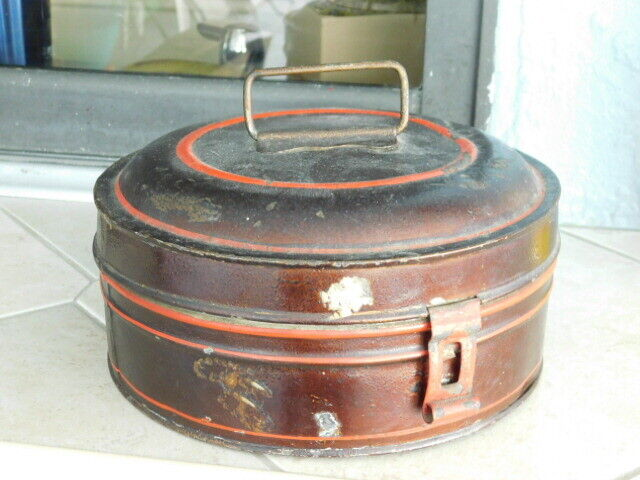 EARLY 19TH CENTURY ANTIQUE TOLE WARE SPICE TIN CANISTER SET - $49.99