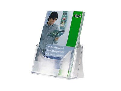 Sigel Style Tisch-Prospekthalter Prospektständer Acryl A5 1Fach