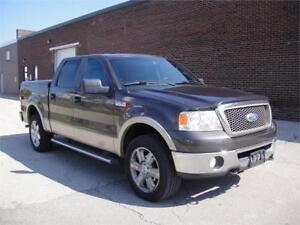2007 FORD F-150 LARIAT SUPERCREW-LOADED,HEATD LEATHER,4X4,NO ACC