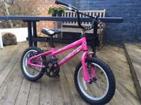 Use pink 'Land Rover' children's bicycle and matching helmet in good condition