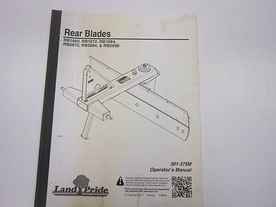 Land Pride Rear Blade | Owner's Guide to Business and