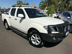 2012 Nissan Navara D40 S6 MY12 ST White 6 Speed Manual Utility East Bunbury Bunbury Area Preview