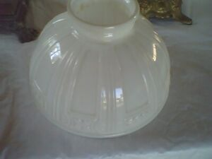 Antique Embossed Milk Glass Gas Lamp Shade Coleman or Similar