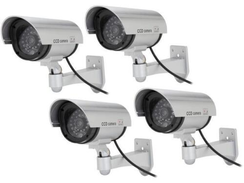 Rosewill Fake Security Surveillance CCTV Dummy Camera (4-PK), with LED Light & W