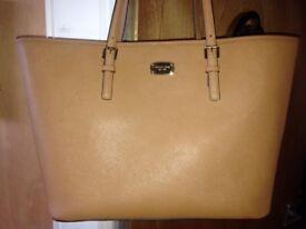Michael Kors leather jet set travel handbag new