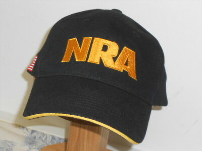 Black Embroidered NRA Baseball Style Hat 453d9d8abef