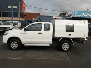 2013 Toyota Hilux KUN26R MY12 SR (4x4) White 5 Speed Manual Condell Park Bankstown Area Preview