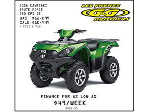 2016 BRUTE FORCE 750i EPS SE SALE $10,999 NO CHARGE 1ST SERVICE