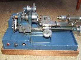 Cowells ME90 Lathe. Benchtop high precision model engineer or watch making equipment.