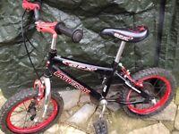 "BOYS 4yrs+ UNIVERSAL GPX Bike, 14"" Wheels, 10"" Frame, VGC £25"