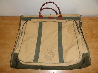 Vintage Canvas & Nylon ORVIS GOKEYS No.6 Bi-Fold Garment Bag Travel/Luggage Case