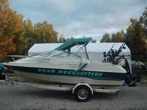 95 Bayliner Capri with a 2008 115 Evinrude etec