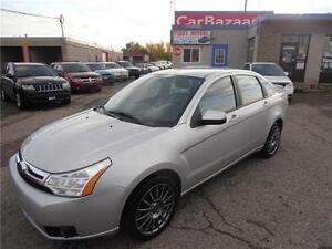 2009 FORD FOCUS SES LEATHER 4 CYL LOADED ALLOYS EASY FINANCING